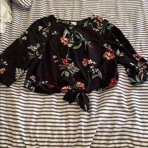 Floral crop blouse.